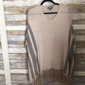 XS sweater with fringe bottom